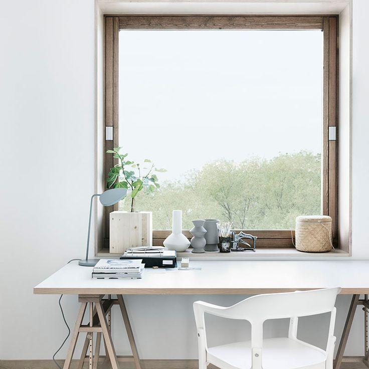 Pracovní kout ve skandinávském stylu
