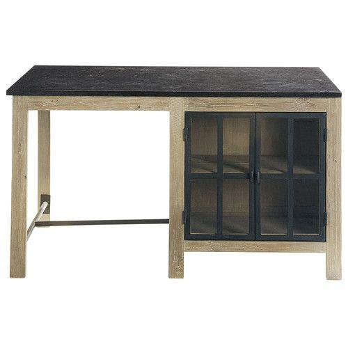 Kücheninsel aus Recyclingholz, B 150 cm