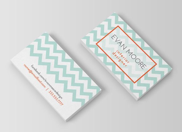 31 best business cards images on pinterest business cards carte chevron business card colourmoves Gallery