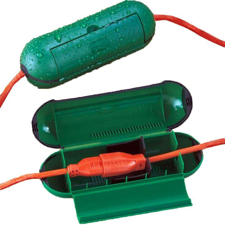 Extension cord safety seal green 2packhext302