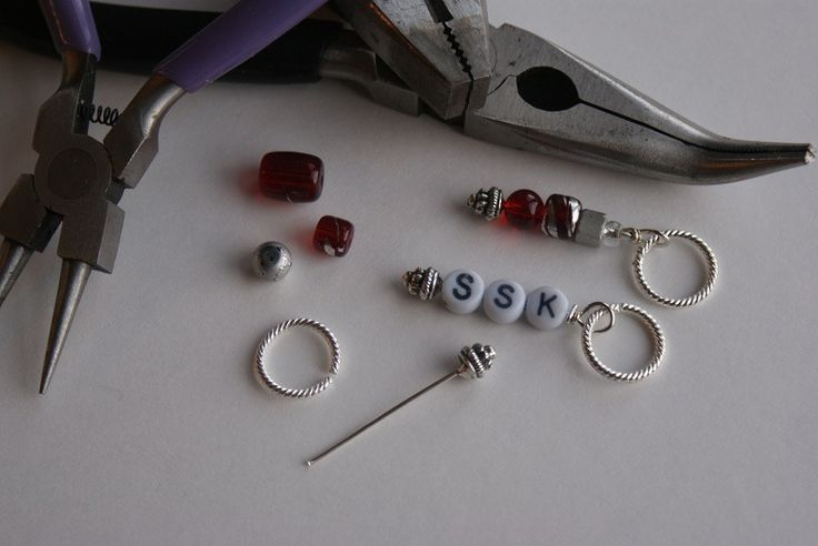 Knitting Markers Diy : Diy stitch markers for knitting stitches and