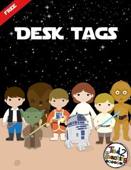 Meet the Teacher ~ Open House ~ Back to SchoolI have created these FREE EDITABLE Desk Tags (STAR WARS INSPIRED)  for you to use in your classroom!  They are saved in Power Point format so that you can easily add your students names. Or, whatever else you might want them to say!