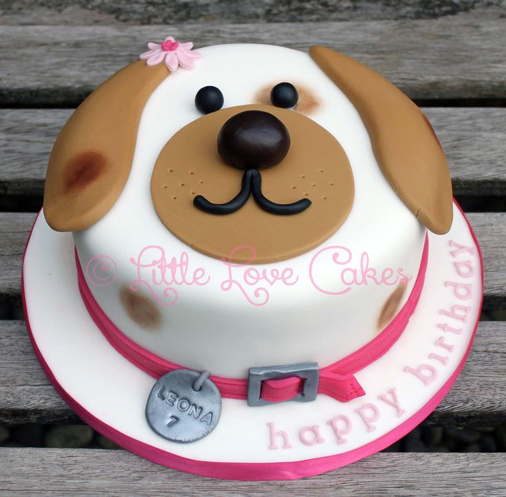 Little Love Cakes: Cute dog face cake                                                                                                                                                                                 More