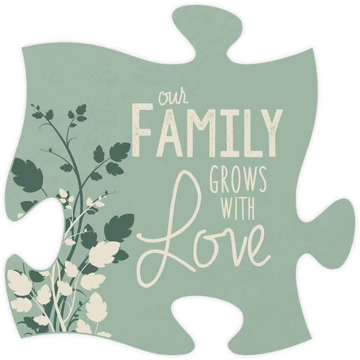 Our Family Quote Puzzle Piece Puzzle art, Christian wall