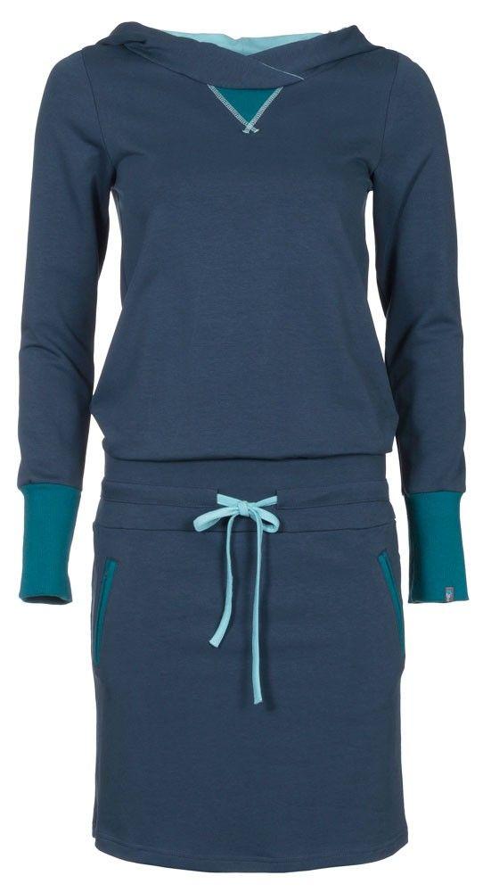 sportieve blauwe jogging damesjurk Zendee
