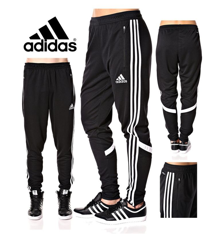 Adidas Soccer Pants Condivo 14 Slim Fit Training Climacool Black Skinny Athletic in Clothing, Shoes & Accessories, Clothing, Shoes & Accessories | eBay