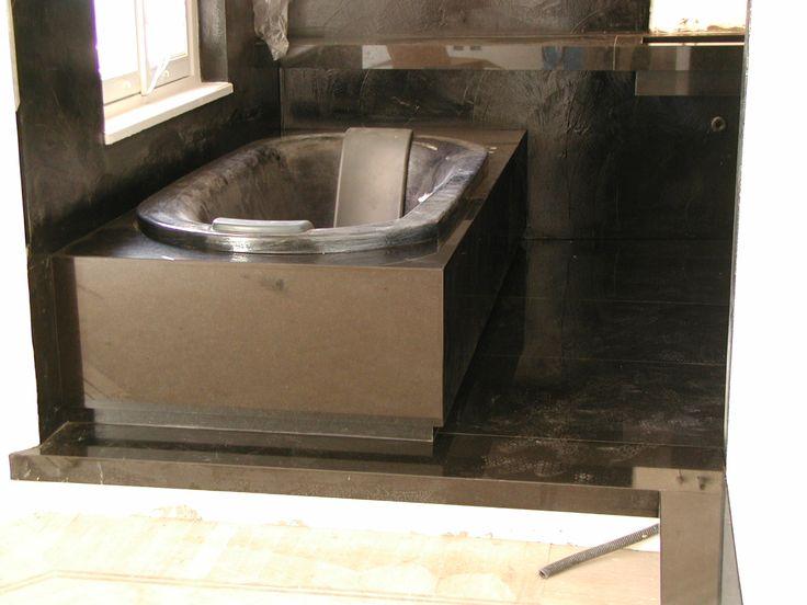 vasca da bagno in granito nero assoluto
