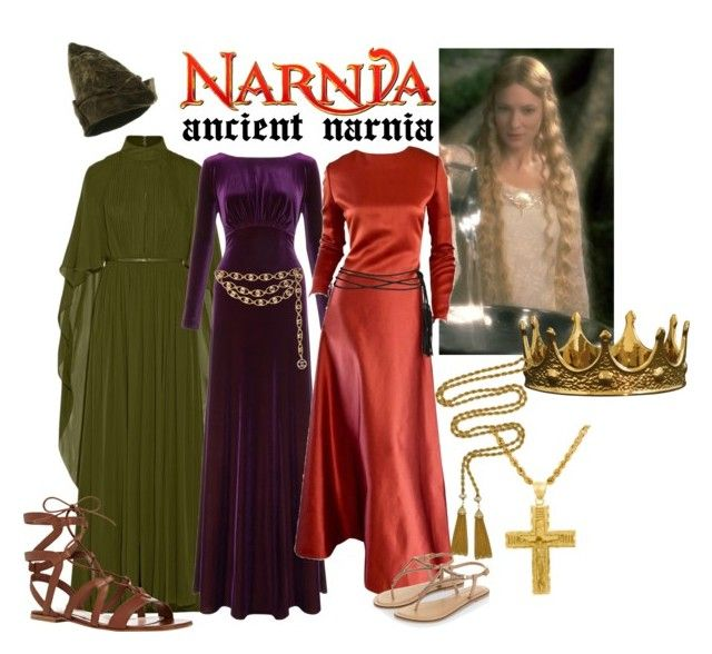 """Narnia History: Ancient Narnia"" by sunnyflgirl ❤ liked on Polyvore featuring Elie Saab, Ariella, Bill Blass, Chanel, Accessorize, Gianvito Rossi, Seletti, Sterling Essentials and Ciner"