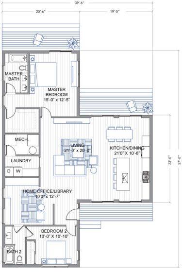 10 dise os de casas de una planta modernos modelos de - Modelos de casas de una planta ...