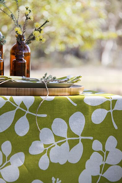 A Dandi spring table setting. Styling with neutral browns and greens. Beautiful country sunlight. www.dandi.com.au