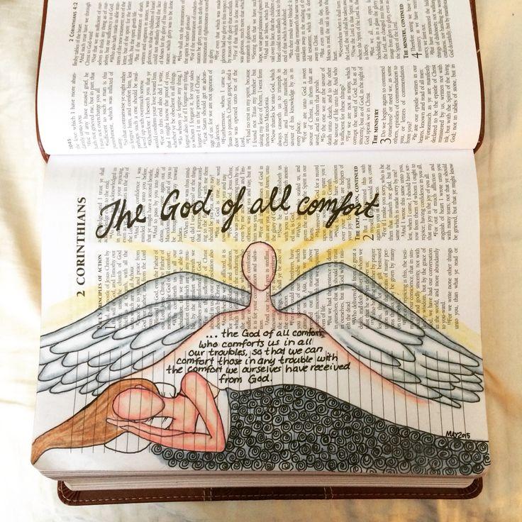 Bible Journaling 2 Corinthians 1:3 (Kelly Watts 2015)
