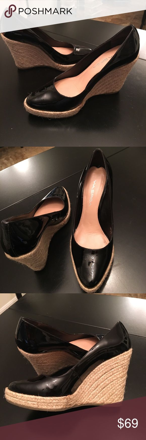 Via Spiga patent leather espadrilles Via Spiga patent leather espadrilles. Worn once for less than an hr. Excellent condition. Kept in plastic box for protection Via Spiga Shoes Espadrilles