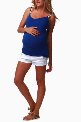 White-Maternity-Shorts
