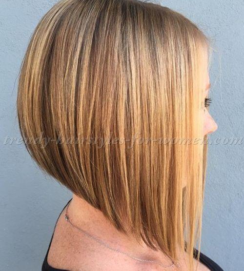 medium+length+hairstyles+for+straight+hair+-+A+line+bob+haircut
