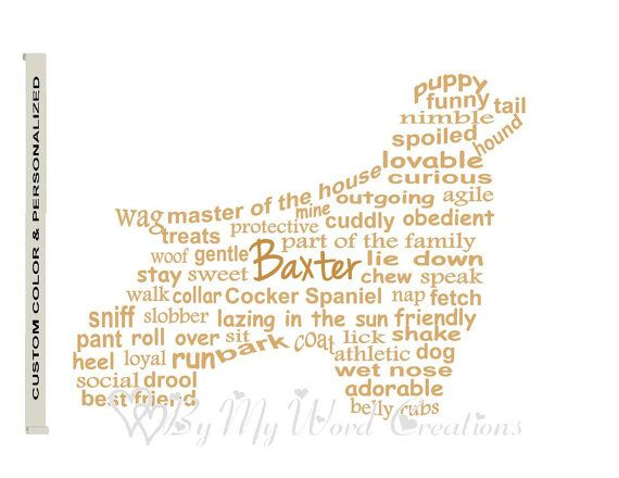 Personalized Cocker Spaniel Dog Art Dog Art by ByMyWordCreations