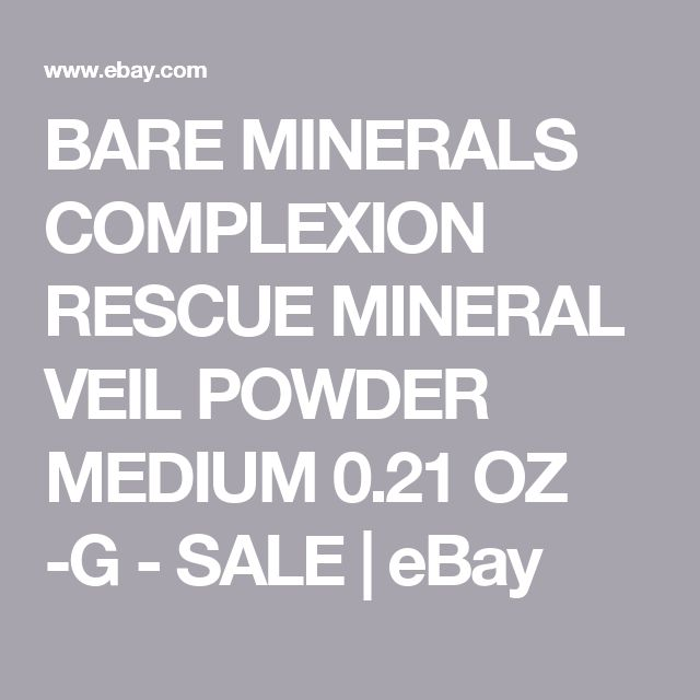 BARE MINERALS COMPLEXION RESCUE MINERAL VEIL POWDER MEDIUM 0.21 OZ -G - SALE | eBay