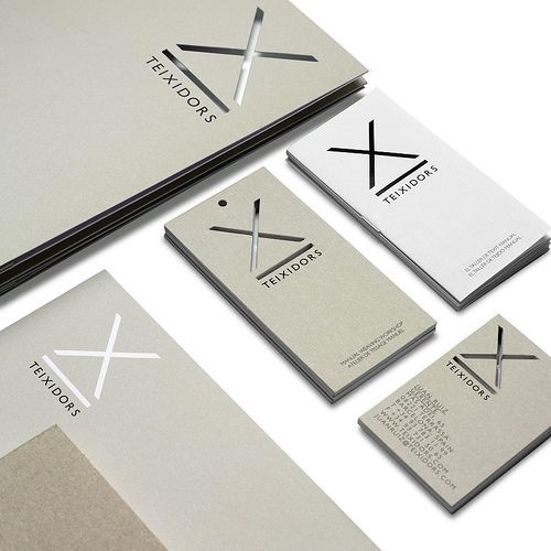 X die cut to give an extra punch to a branding.