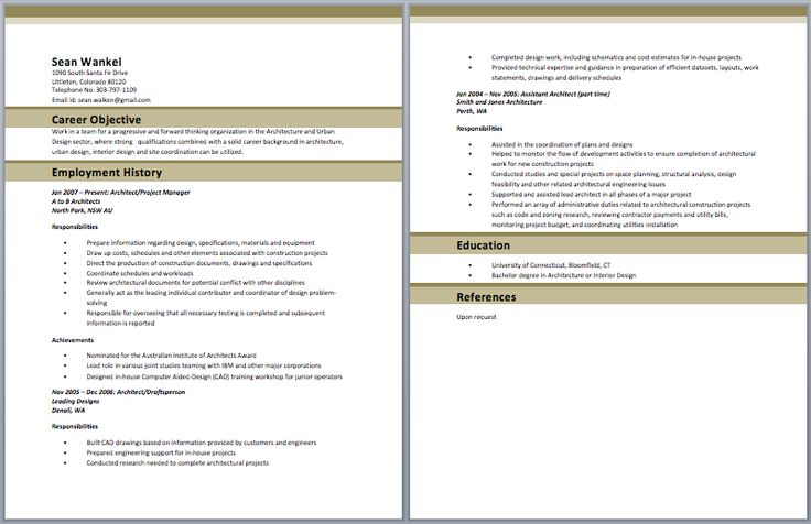 Junior Architect Resume Architect Resume Samples Pinterest - web architect sample resume