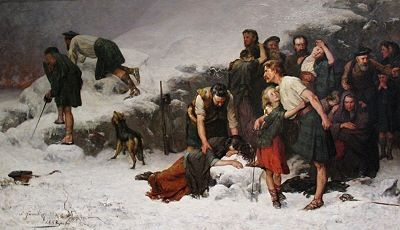 Painting of the Highland Clearances