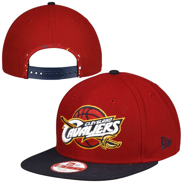 Cleveland Cavaliers New Era Glow-in-the-Dark Original Fit 9FIFTY Snapback Adjustable Hat - Burgundy - $23.99