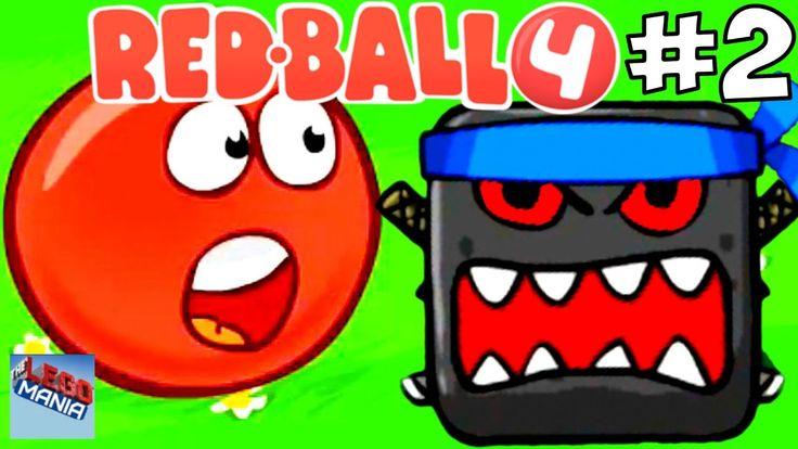 Мультик Red Ball 4 Дремучий Лес. Прохождение игры Красный Шарик против Ч...