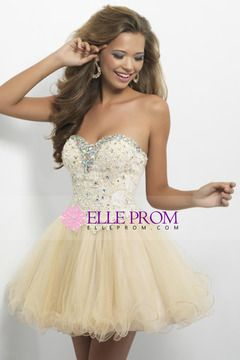 2013 Lovely Homecoming Dresses A Line Sweetheart Short Mini Color Champagne