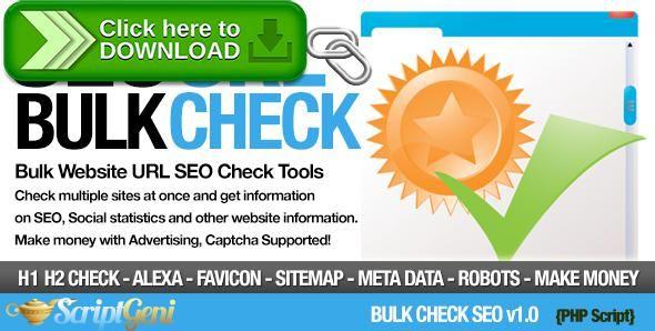 [ThemeForest]Free nulled download Bulk Check SEO Tools from http://zippyfile.download/f.php?id=39659 Tags: ecommerce, alexa, bulk, bulk check, bulk link, bulk screenshot, bulk tool, seo, seo analysis, seo audit, seo check, SEO rank, seo report, seo scan, seo tool, social seo