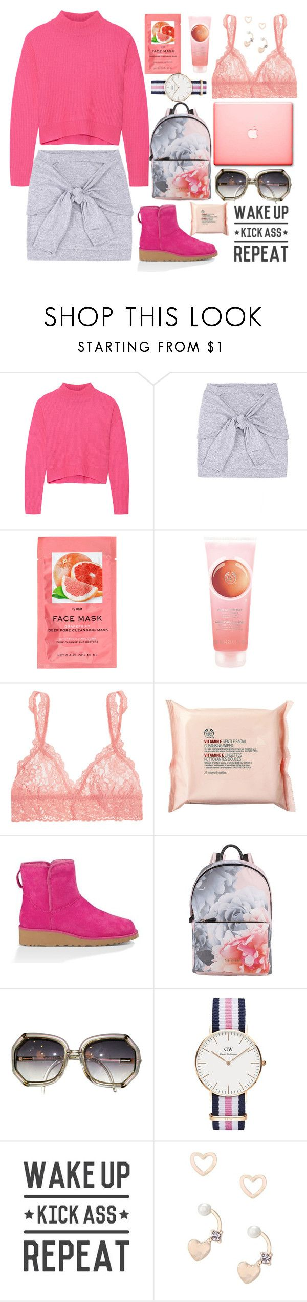 """My Mood Today"" by lidia-solymosi ❤ liked on Polyvore featuring Line, H&M, The Body Shop, Hanky Panky, UGG Australia, Ted Baker, Daniel Wellington, WALL, Lipsy and thisisugg"