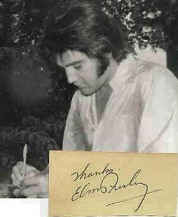 Elvis Presley signature I loved Elvis and his music