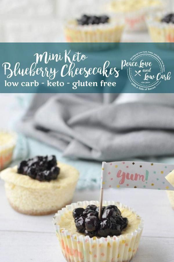 Mini Keto Blueberry Cheesecakes | All of the amazing flavor of a low carb cheese…