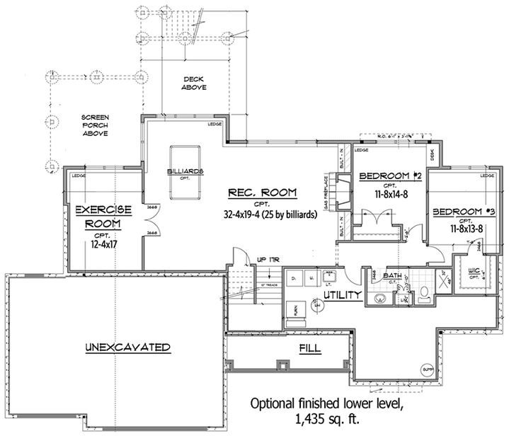 5379 best homes images on pinterest house floor plans for Empty nester house plans with basement