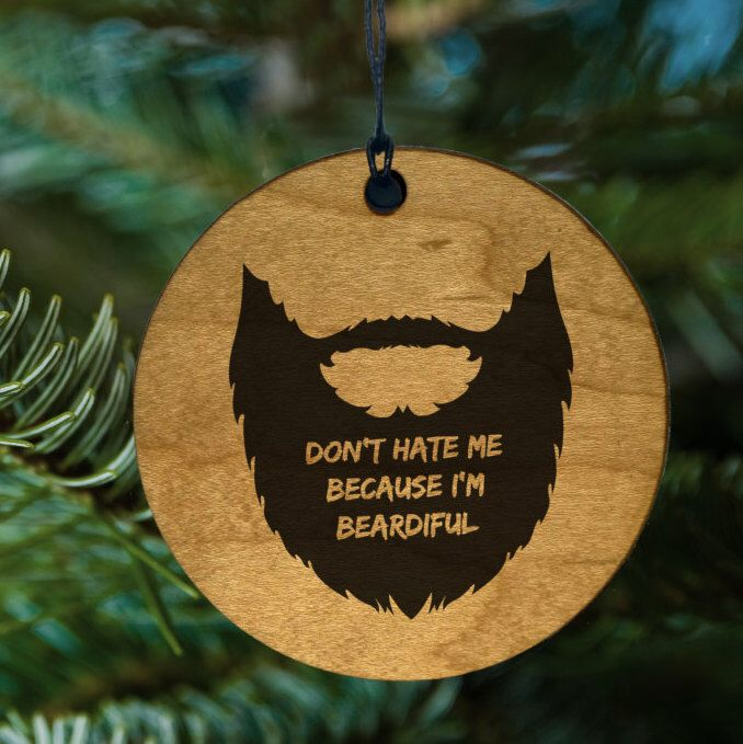 Beard Ornament, Christmas Tree Jokes for Him, Funny Gifts by kitchenniche on Etsy https://www.etsy.com/listing/479755050/beard-ornament-christmas-tree-jokes-for