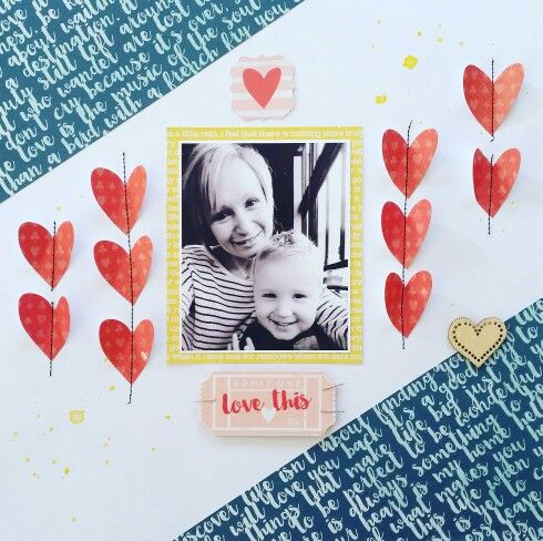 Kaisercraft : Finders Keepers Collection : Love This layout by Amanda Baldwin
