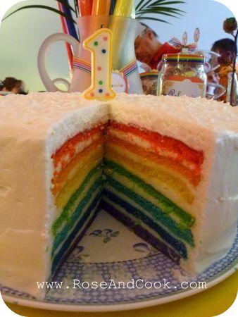 LA recette du rainbow cake (en français) !