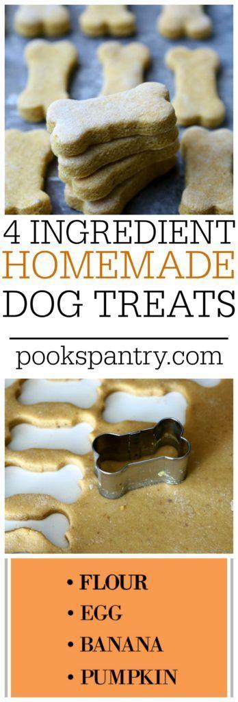 Healthy Homemade 4 Ingredient Banana Pumpkin Dog Treats