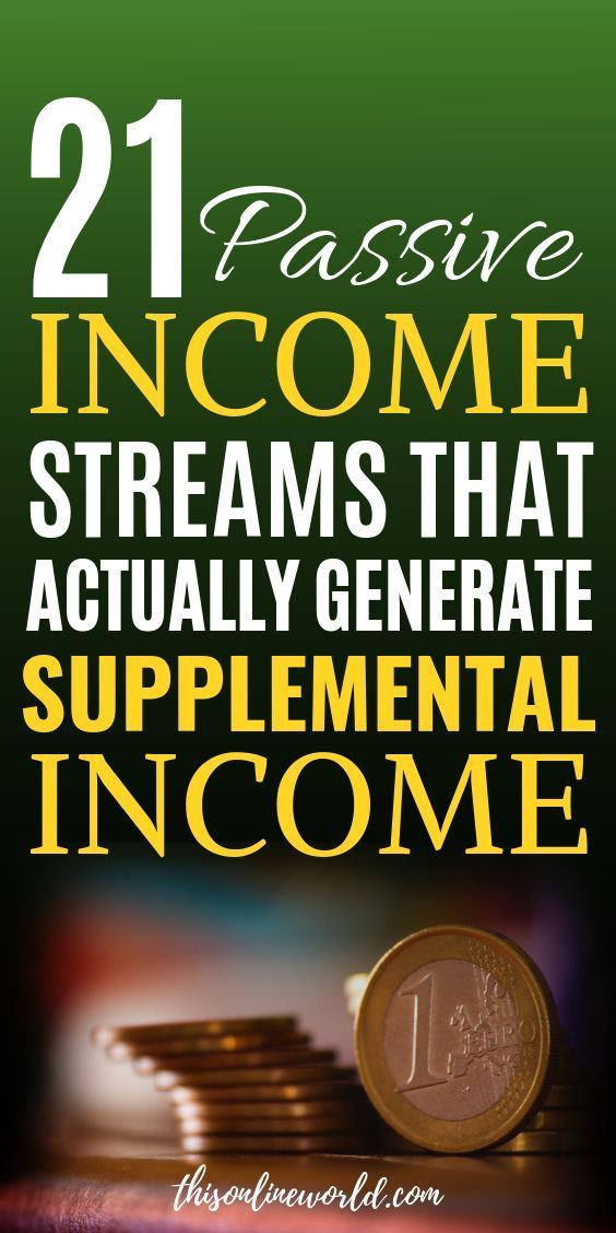 21 Passive Income Streams that Actually Generate Supplemental Income – The Wealthy Alchemist