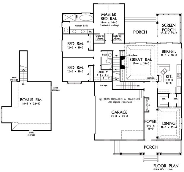 Basement Stair Designs Plans: 17 Best Images About Don Gardner House Plans On Pinterest