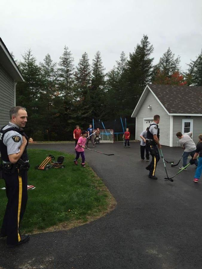 In Canada, a woman called to complain of noisy kids. This is how the Mounties responded. Game on! :)