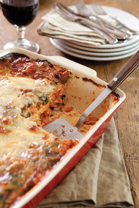 Paula Deen Cheesy Chicken and Vegetable Lasagna - I omitted the chicken and used more vegetables. Delicious!