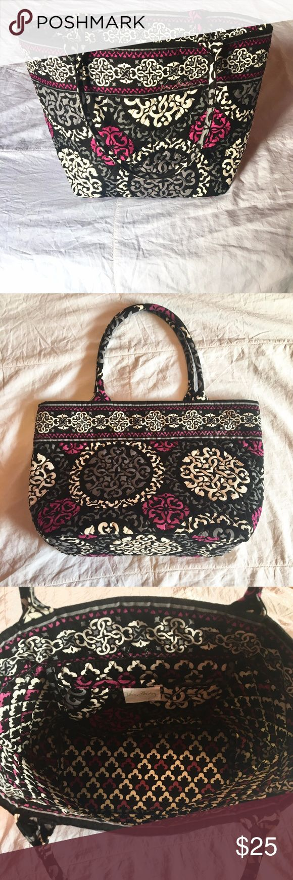 Vera Bradley Tote Used Only a Couple Times - Like New Retired Canterberry Magenta Pattern Cute and Dainty  Interior Pocket Vera Bradley Bags Totes