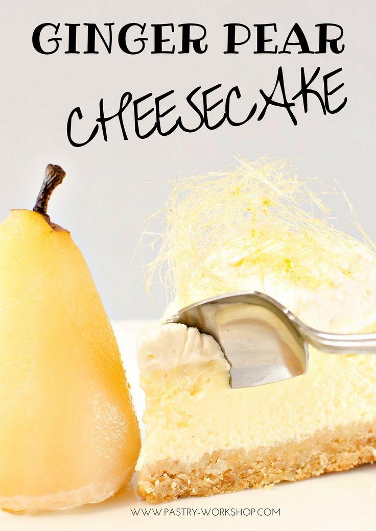 Ginger Pear Cheesecake