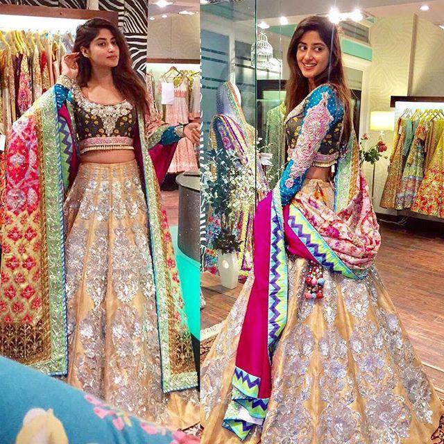 979d0d78ae Something exciting coming up with the beautiful #SajalAly @sajalaly # nomiAnsari #nomiAnsariStudio #Karachi | Formal dresses in 2019 | Bridal  mehndi dresses, ...