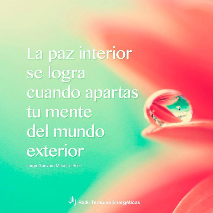 La paz interior se logra cuando apartas tu mente del mundo exterior | Jorge Guevara Maestro Reiki | Reiki Terapias Energéticas #FraseReiki #ReikiOnline