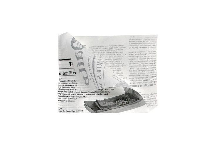 Sobre Antigrasa Abierto 2 Lados News 13x13cm Cantidad: 1000 Und/Paquete Medidas: 130x130mm