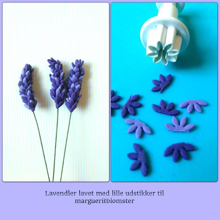 Lavender use flower punch then cut in half) easy