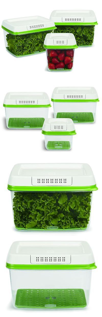 Food Storage Containers 20655: Rubbermaid Freshworks Produce Saver Food Storage Container1-Medium 2-Large 3-... -> BUY IT NOW ONLY: $31.45 on eBay!