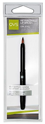 QVS Mini Lip Brush Retractable With Nylon Bristles >>> Learn more by visiting the image link.