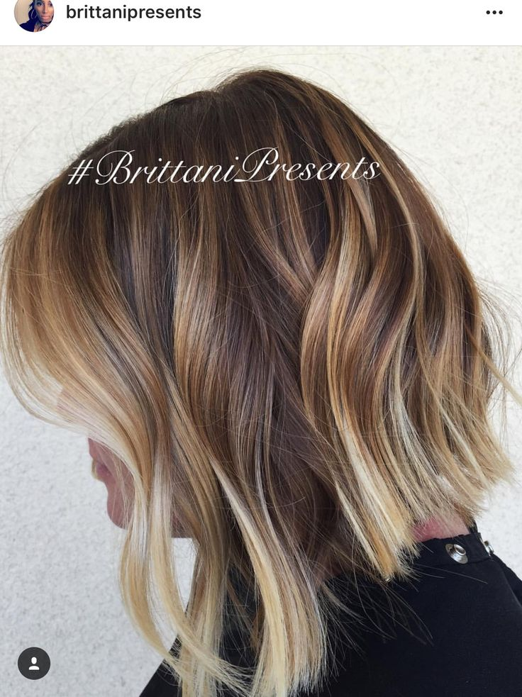 Brown Caramel Ash Hair Highlights
