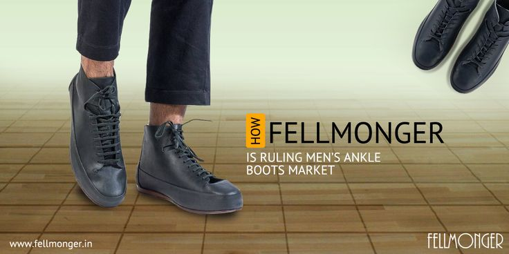 Be an ace in the footwear game with an eclectic pair of men's ankle boots. Slip into a Fellmonger black #boots for #men #online and step up in style!