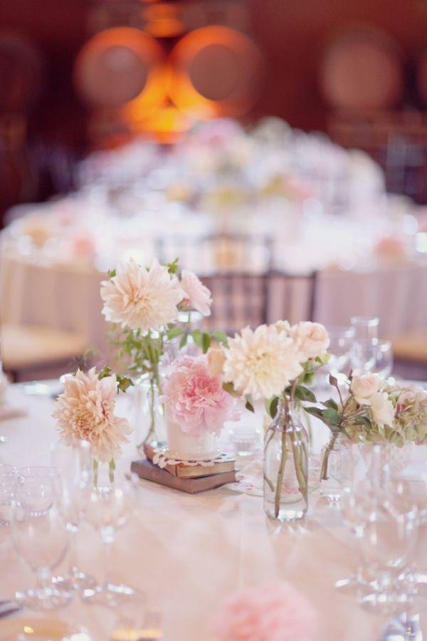Centerpiece: Dahlias Wedding Centerpieces, Bud Vases, Flowers Centerpieces, Wedding Ideas, Simple Centerpieces, Centro De Mesas, Centerpieces Inspiration, Flowers Ideas, Tables Flowers